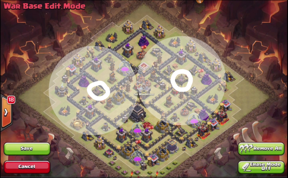 Clash Of Clans Th9 War Base Without Xbow